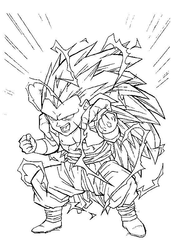 Coloriage De Dragon Ball Z De Sangohan